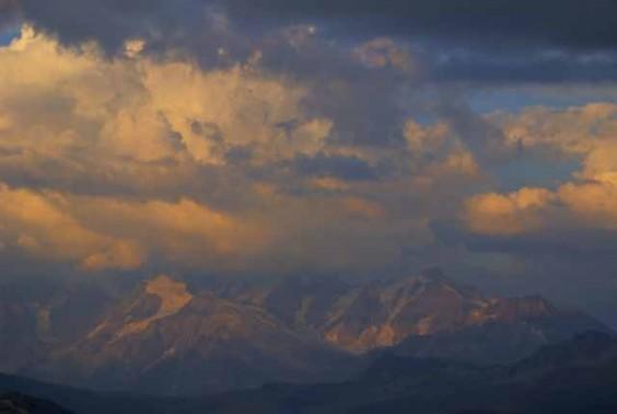 Mont Blanc soleil couchant