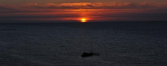 Coucher de soleil sur l'ile de groix
